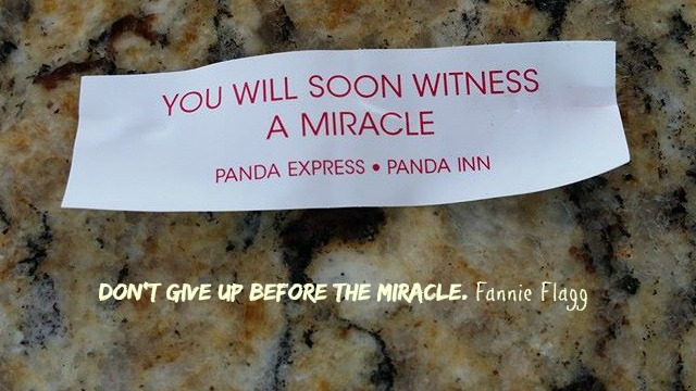 Don't Give Up Before the Miracle